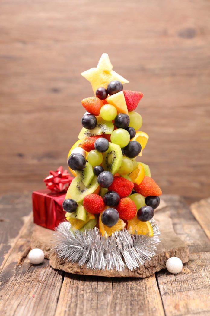 arbol de navidad de frutas
