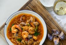 arroz caldoso con almejas