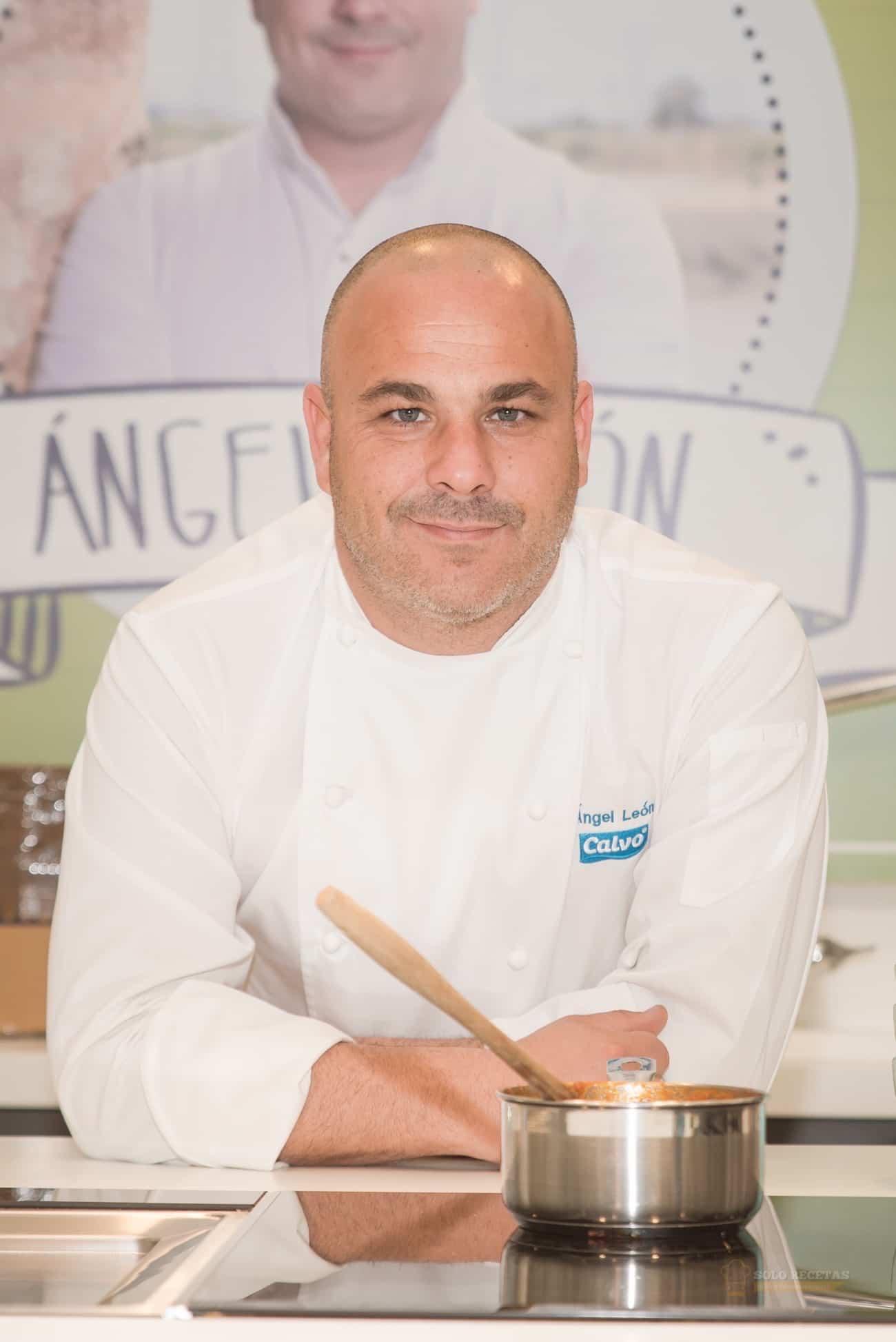 Ángel León el chef de mar y Atún Claro Calvo Ligero.