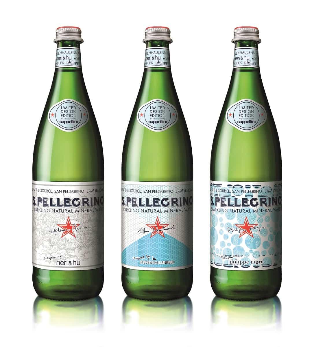 s. pellegrino special design edition bottles