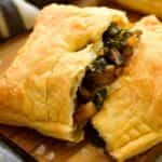 puff pastry with salmon and cream cheese