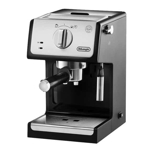 cafetera espresso con filtro manual