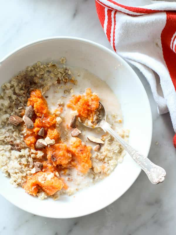 oatmeal and sweet potato porridge